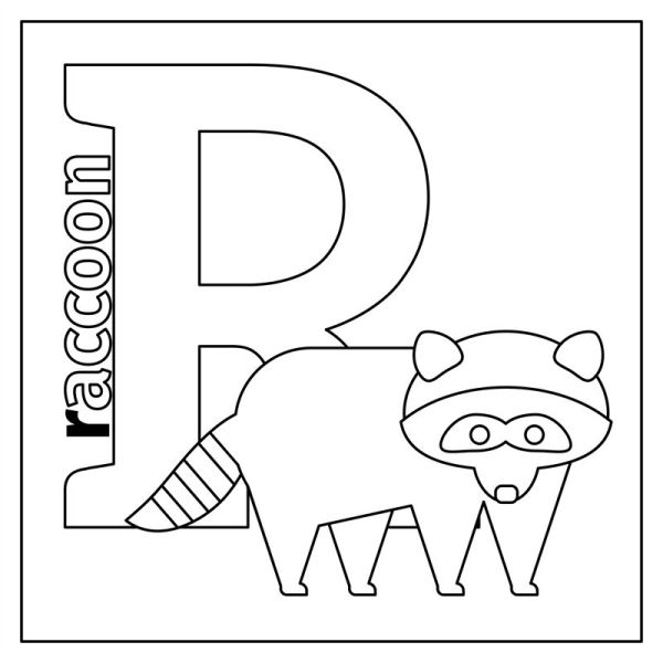 letter r coloring page # 36