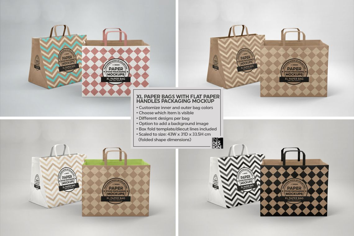 Download Glossy Paper Bag Mockup Front View Yellowimages