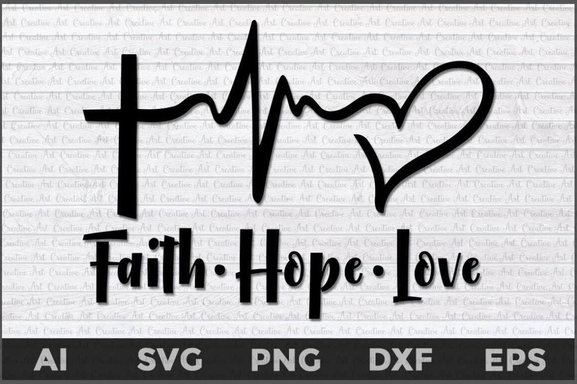 Download Download Faith Hope Love Svg for Cricut, Silhouette ...