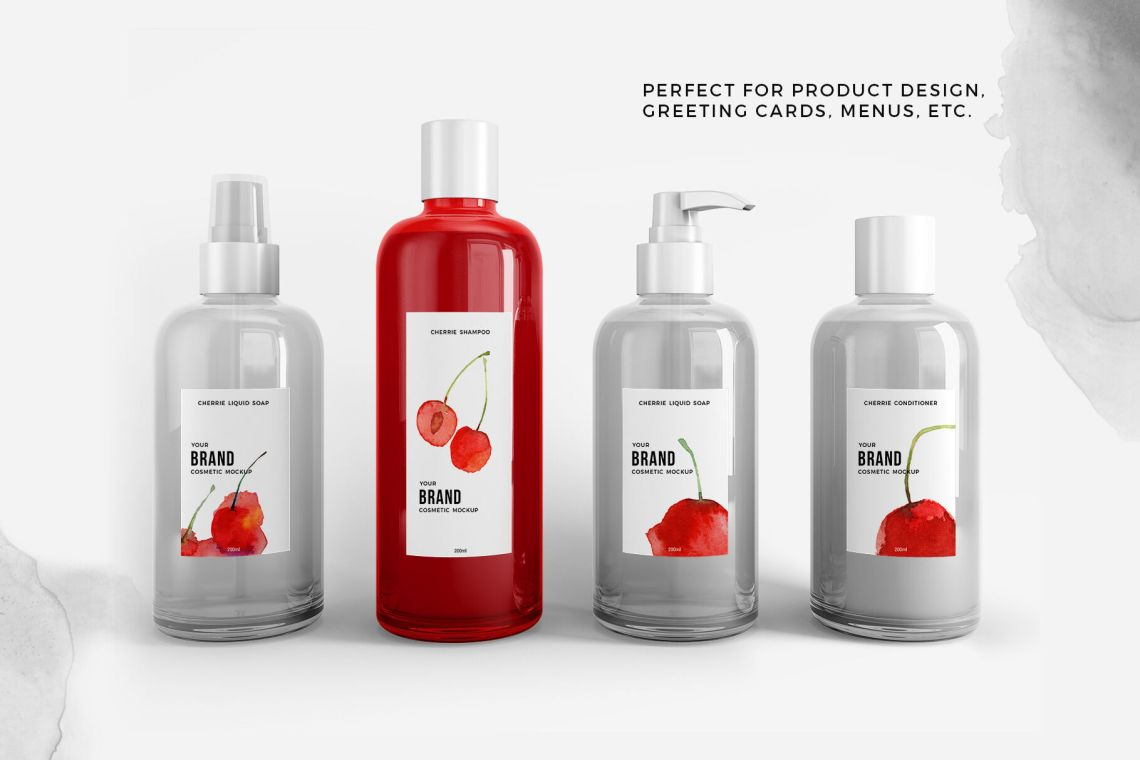 Download Pet Bottle With Red Grape Drink Mockup Yellowimages