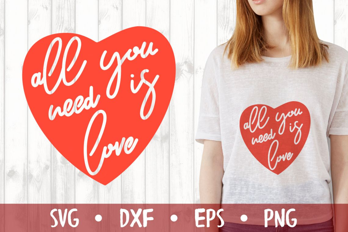 Download All you need is love SVG CUT FILE By Milkimil ...