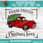 Christmas Red Old Vintage Truck Farm Fresh Svg Farmhouse Svg Chris By Dynamic Dimensions Thehungryjpeg Com
