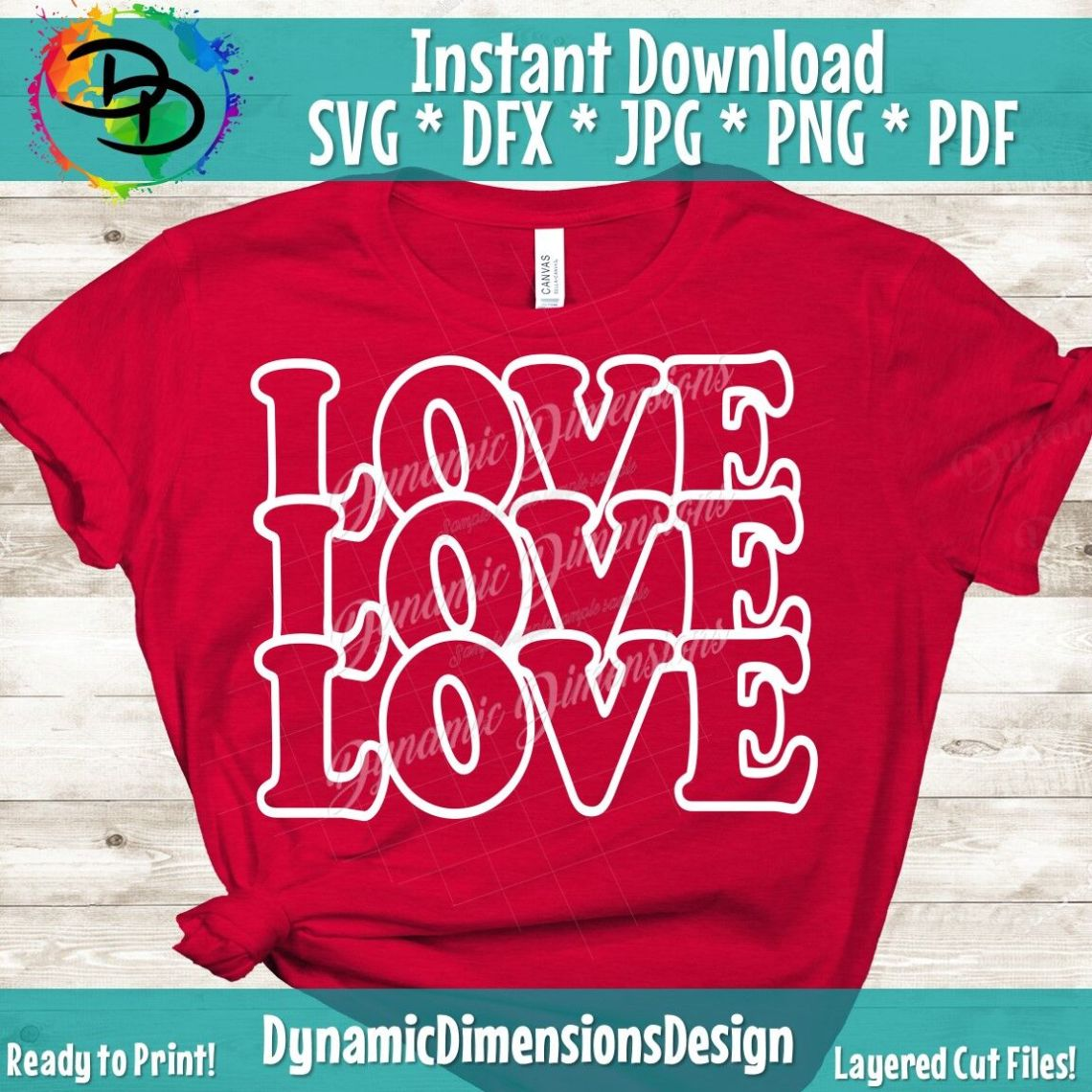 Download Love Is All You Need SVG, Valentine's Day Cut File, Mirror ...