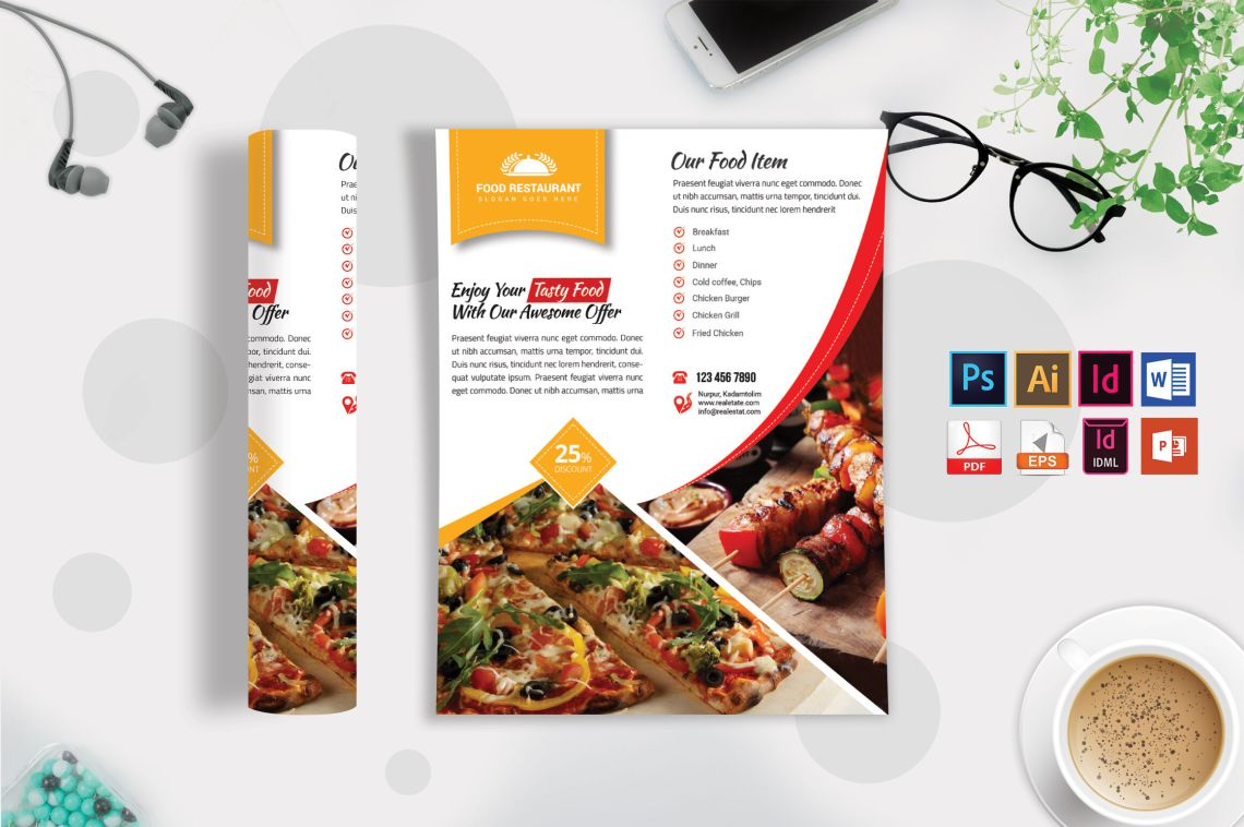 Download A5 Bi Fold Psd Mockup Yellowimages