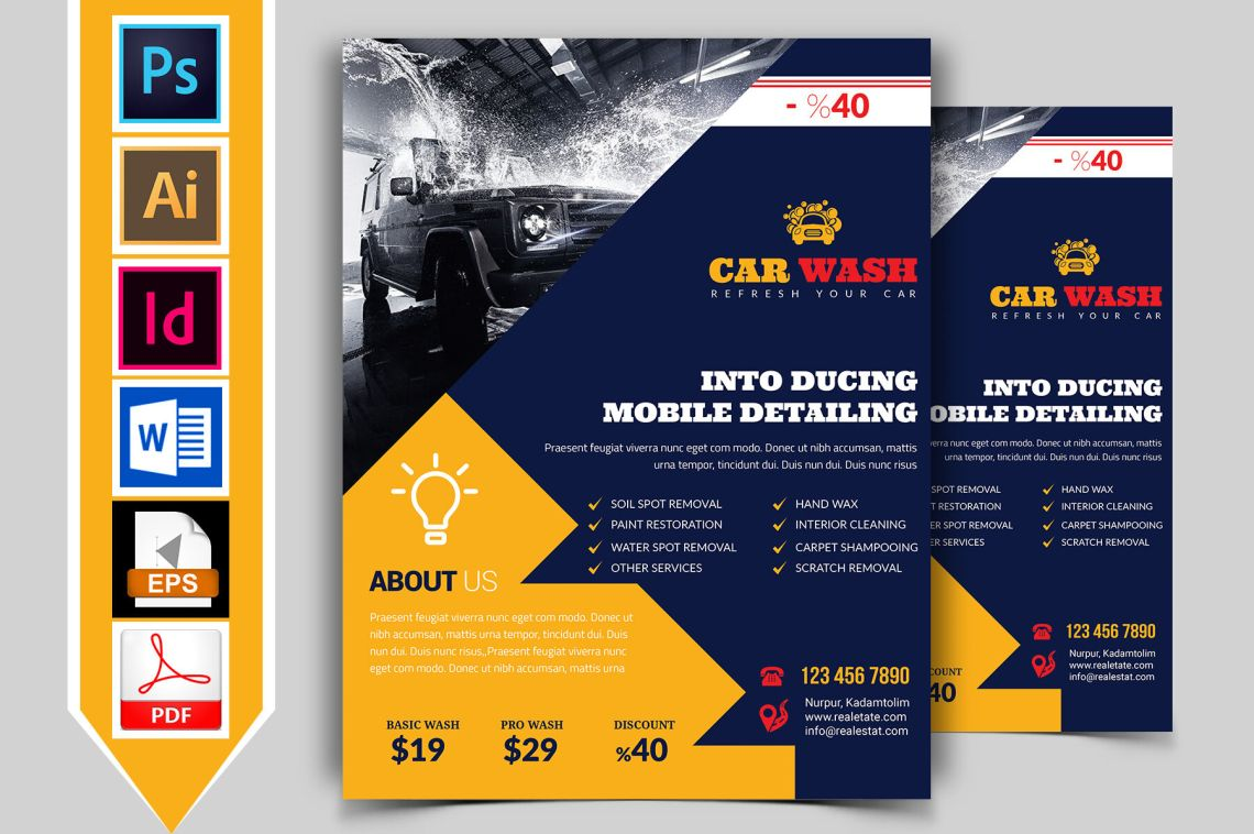 Download 85x11 Brochure Cover Mockup Psd Yellow Images