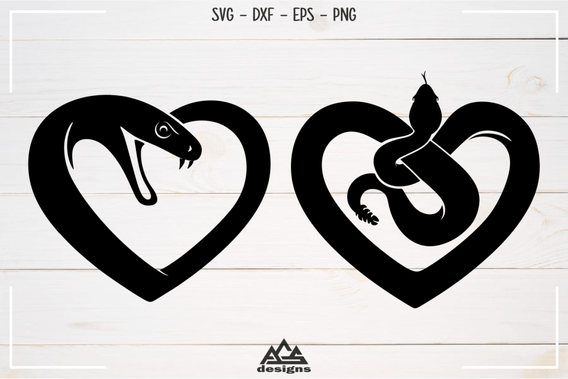 Download Love Heart SNAKE Svg Design By AgsDesign | TheHungryJPEG.com