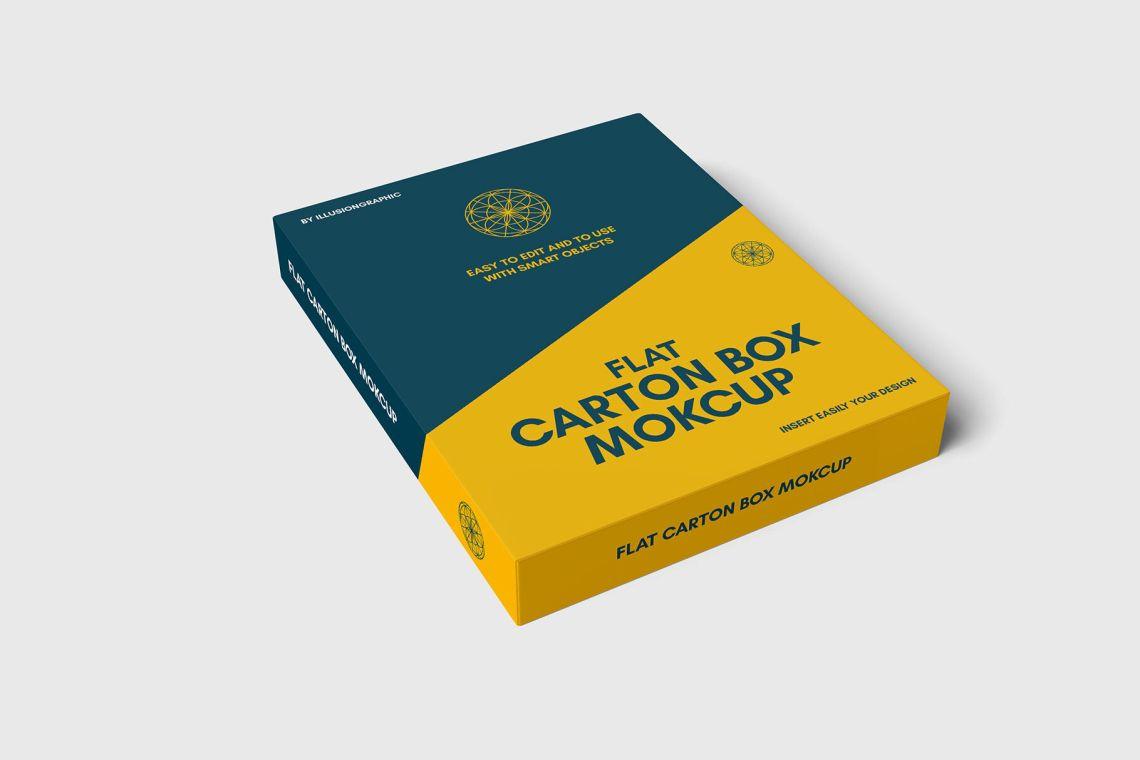 Download Carton Box Mockup Yellowimages