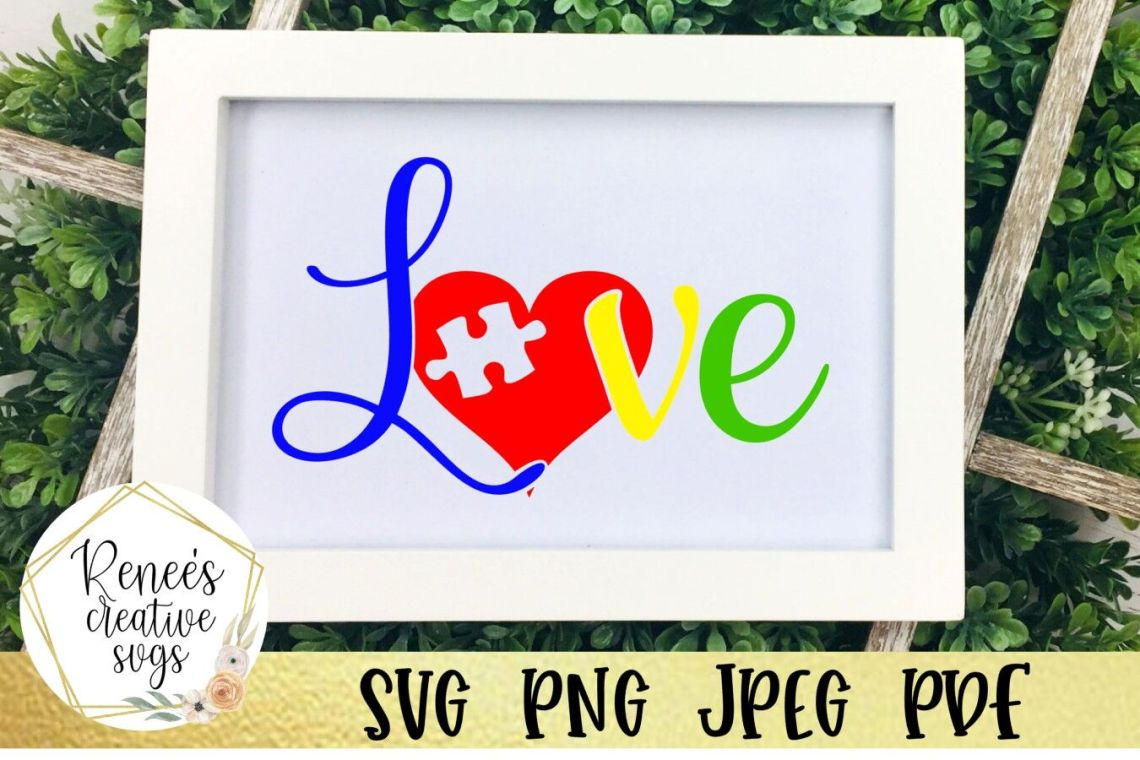Download Autism Love SVG By Renee's Creative Svg's | TheHungryJPEG.com
