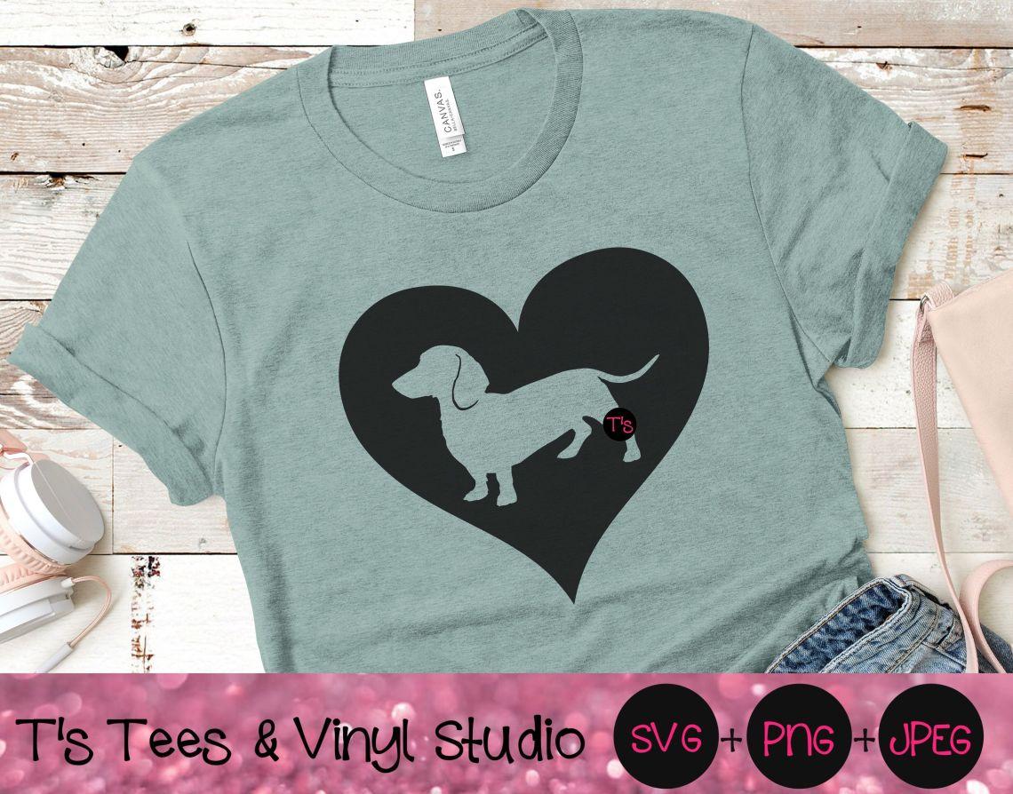 Download Dachshund Svg, Heart Svg, Dog Love Svg, Dachshund Heart ...