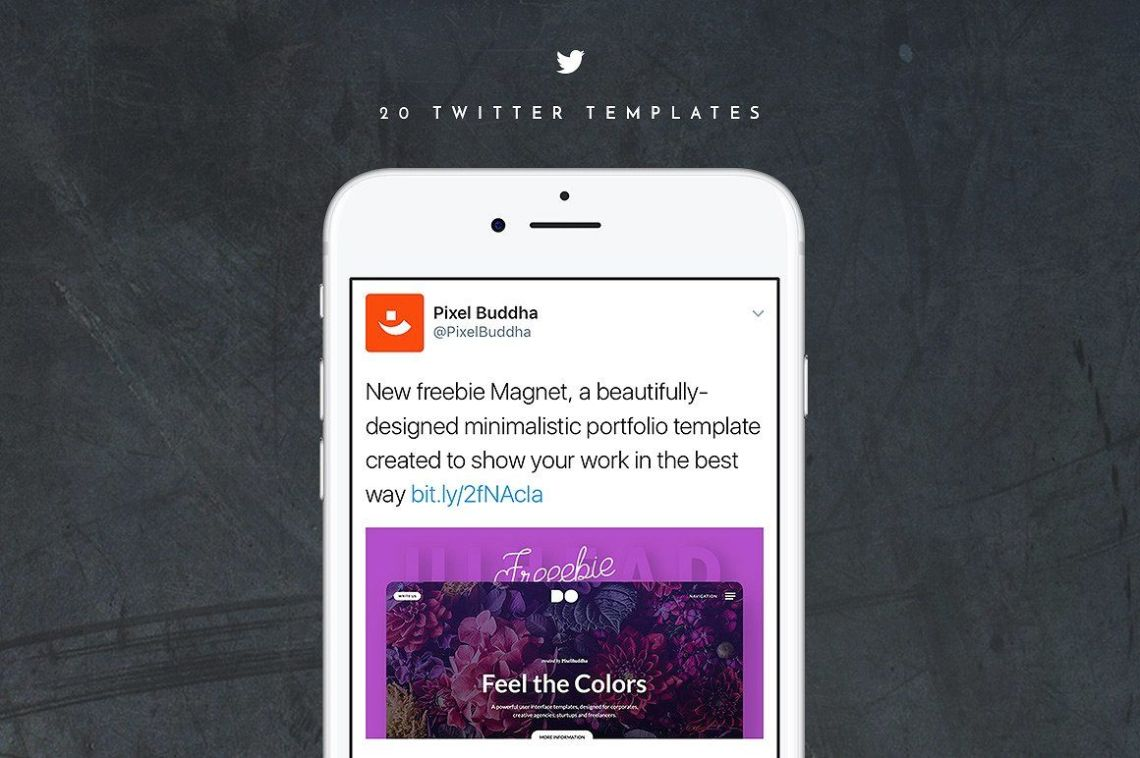 Download Twitter Psd Mockup Yellow Images