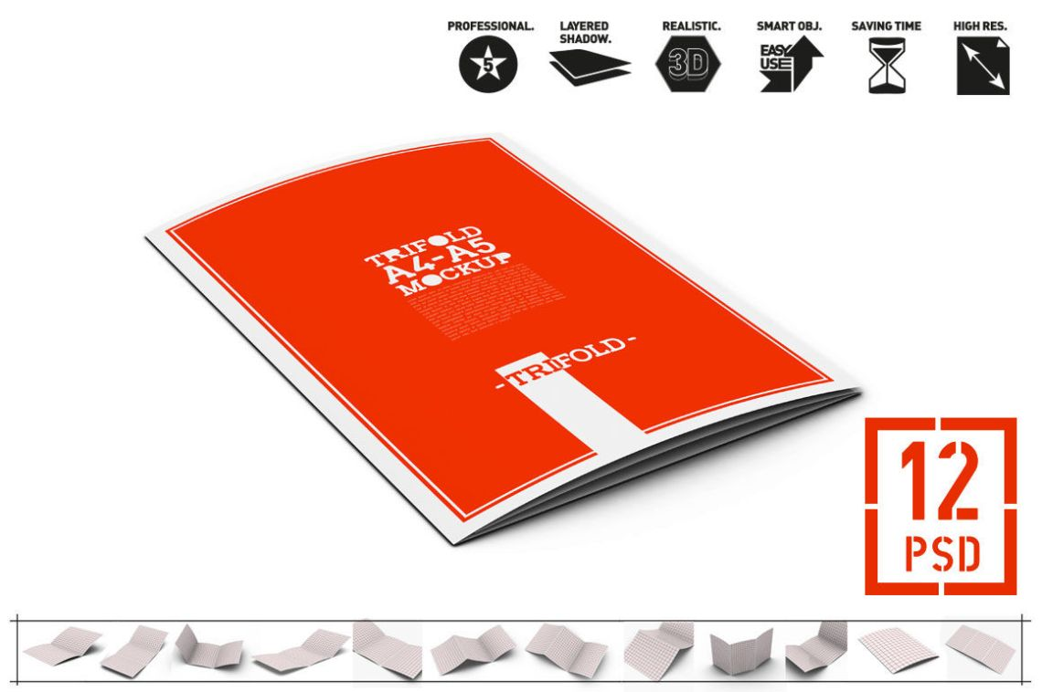 Download Folded Brochure Mockup Psd Yellowimages