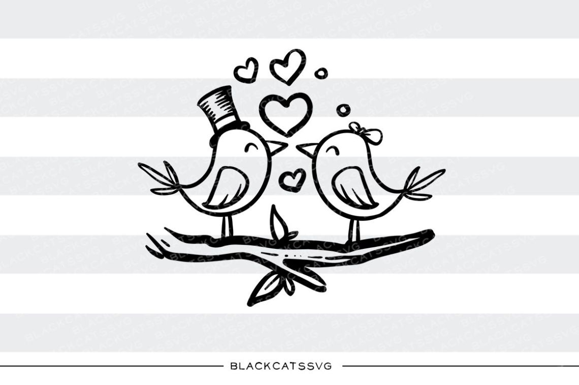 Download Love birds SVG By BlackCatsSVG   TheHungryJPEG.com