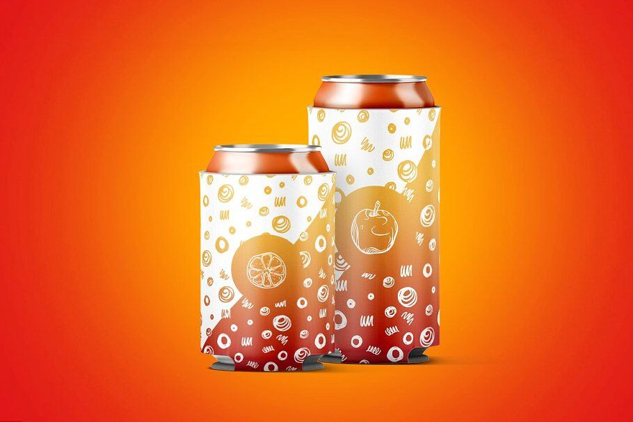 Download Carton Carrier 4 Metallic Cans Mockup Side View Yellowimages