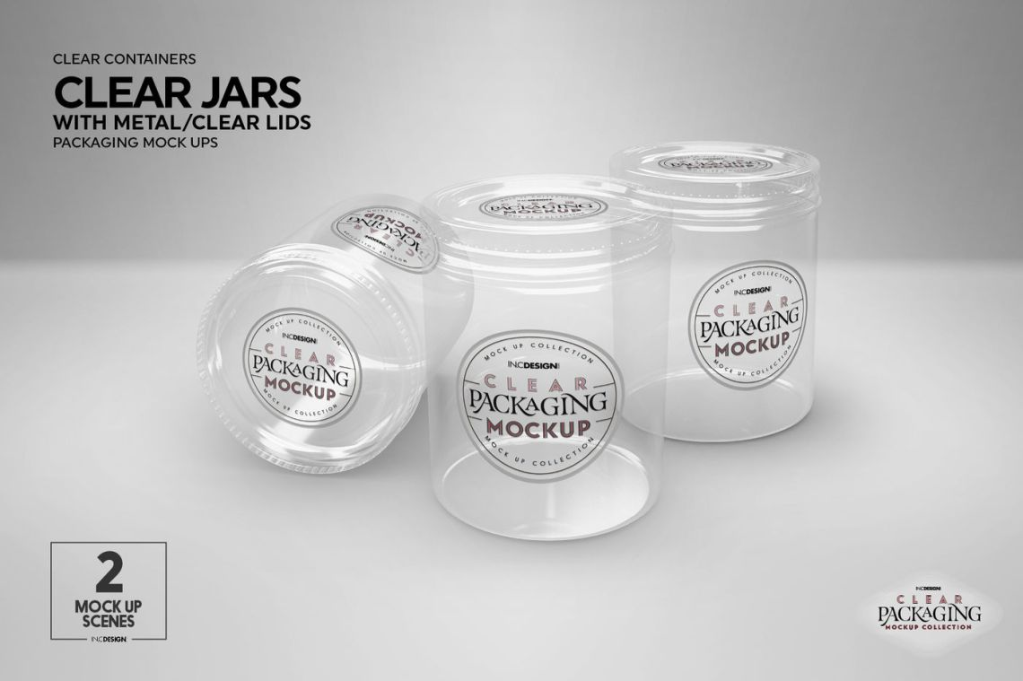Download Glass Cosmetic Jar Mockup Yellowimages