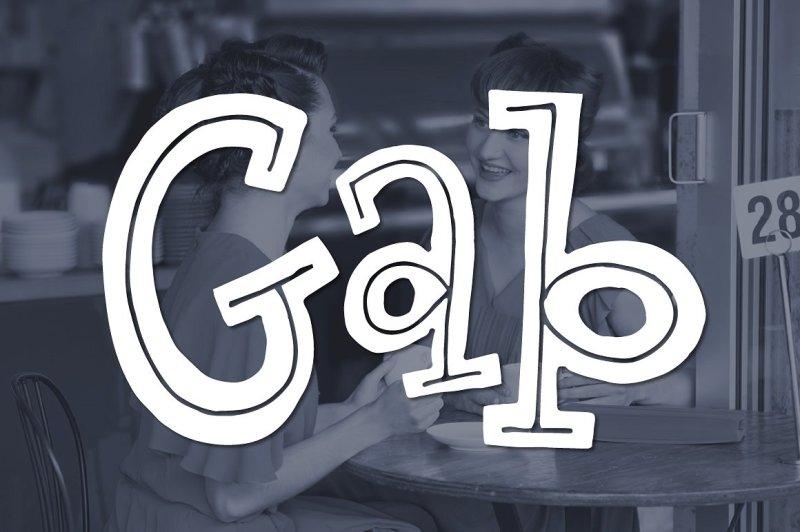 Download The FREE Gab Font By TheHungryJPEG | TheHungryJPEG.com