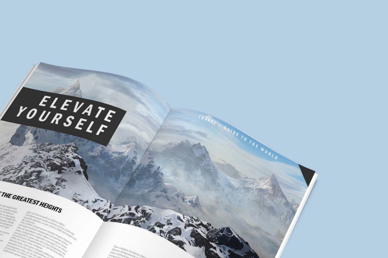 Download Magazine Ad Mockup Psd Free Yellowimages