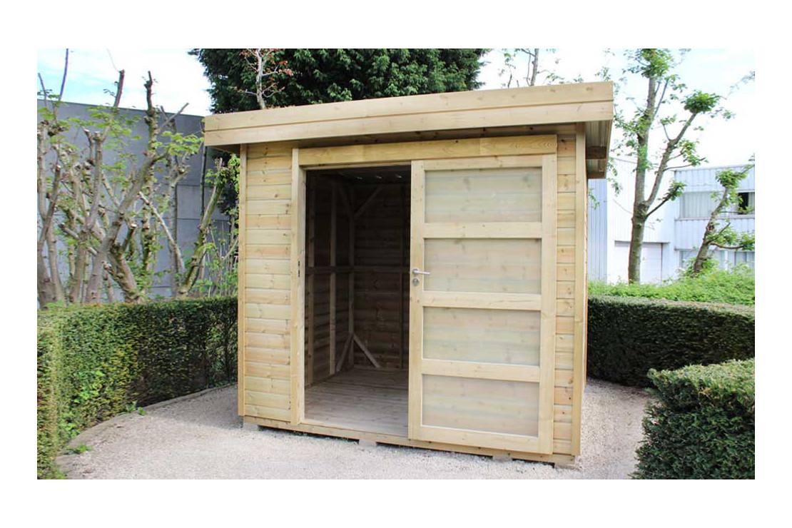 abri de jardin vintage traite autoclave facade 225x200 cm panneaux 16mm
