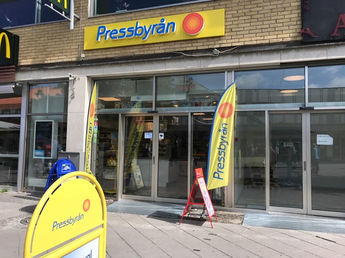 Jobbade en sväng på Pressbyrån i Visby