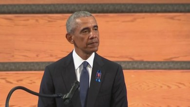 Obama gives passionate eulogy as John Lewis honored at funeral in MLK's Atlanta church