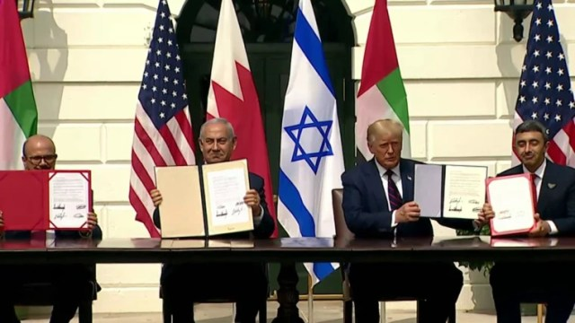 Israel, Arab states sign Trump-brokered deals in White House ceremony