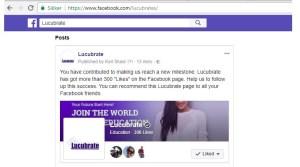 Lucubrate on Facebook