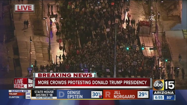 Image result for trump protesters phoenix