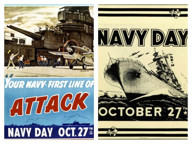 Two more 1940s Navy Day posters
