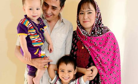 Mohammad Raza Azad can't be any happier to be reunited with his family – wife Kaniz Fatima Adad, son Komeil Heider Azad and daughter Jasmine Azad, who now all live in Rockhampton.