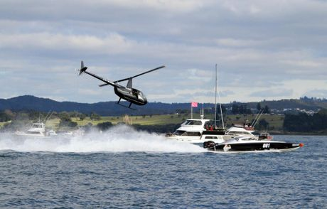 RISE OF THE AQUANAUTS: The best powerboat racers in New Zealand provided a massive spectacle as they blasted through an idyllic Paihia vista on Sunday.