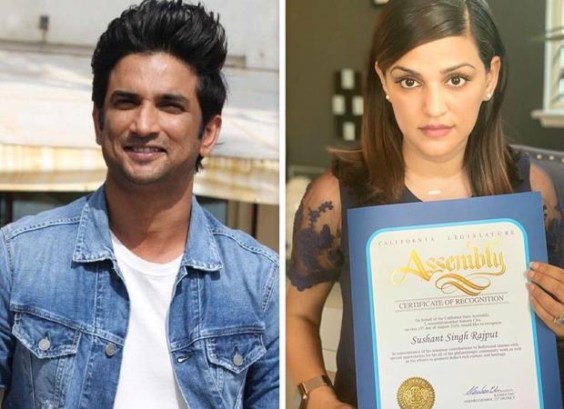 On Independence Day, Sushant Singh Rajput recognised for his contribution to cinema by the California State Assembly