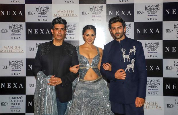 Kartik Aaryan and Kiara Advani look ethereal in Manish Malhotra collection at Lakme Fashion Week 2021