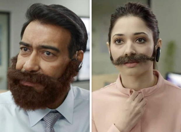 Ajay Devgn and Tamannaah Bhatia engage in self promotion in the latest ad for Disney+Hotstar