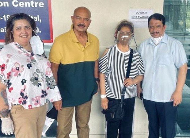 Hrithik Roshan's parents Rakesh and Pinkie Roshan and sister take second dose of COVID-19 vaccine