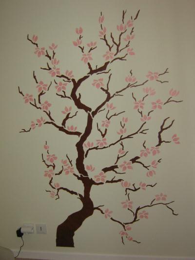 Pochoir mural arbre unixpaint - Pochoir mural chambre ...