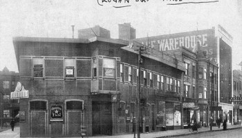 According to Logan Square Preservation president Andrew Schneider, this was taken in 1915. The Green Star Inn was, in his words, a cabaret of mixed reputation.