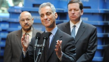 Alderman Joe Moore (right) has become a reliable backer of Mayor Rahm Emanuel--and says thats a good thing.