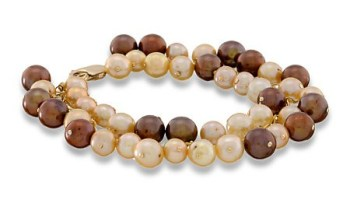 Chocolate and ivory freshwater pearl bracelet by Erin Gallagher