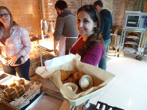 Christine Cikowski of Honey Butter Fried Chicken dishes it up—in 2011.