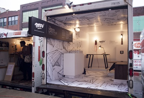 Display for Tretow, the Milwaukee-based furniture company that won best of show