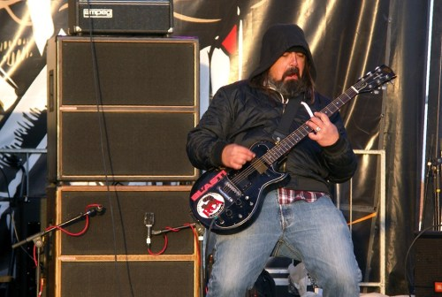 Eyehategod guitarist Jimmy Bower makes some high-quality rock faces.