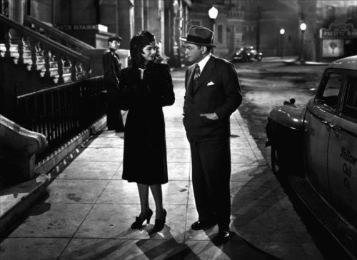Joan Bennett and Edward G. Robinson in The Woman in the Window