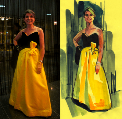Laura at the Costume Ball