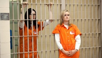 Laura Prepon and Taylor Schilling in Orange Is the New Black