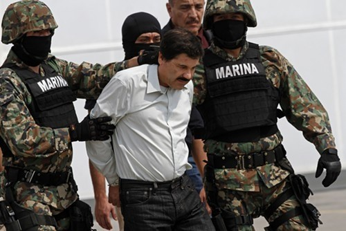 Mexican federal authorities arrested drug lord El Chapo Guzman in February 2014.