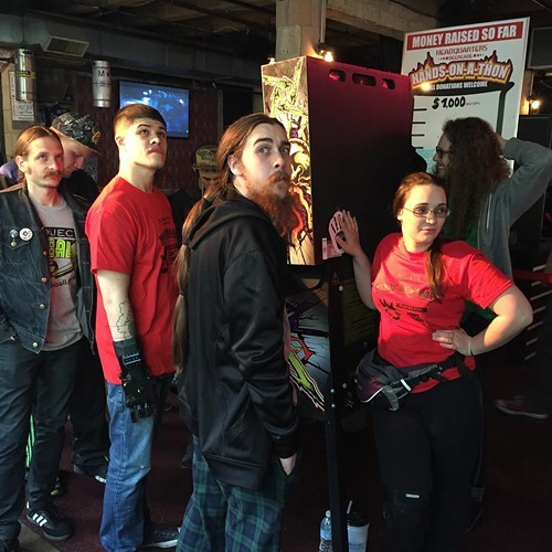 Michael Anthony (far left), Lucas Nunez (middle left), Leah Wheatley (middle right), and Ted Powers (far right) all managed to survive the first night of Hands-on-a-thon.