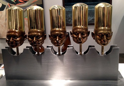 More heads by Esnaya. I thought at first they were beer taps.