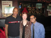 Nancy Wade and campaign workers Sam Holloway and Walter Pituc