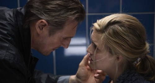 Neeson tells his daughter (Kim Mills) how much he cares in Taken 3