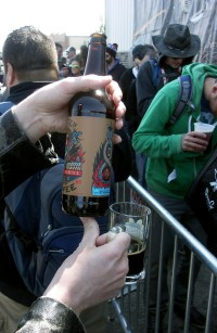 One of the bottles I brought to share: Hunter Coffee from 18th Street Brewery
