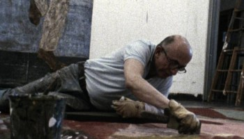 Painter Leon Golub at work in the documentary Golub (1988), which Blumenthal co-directed and edited